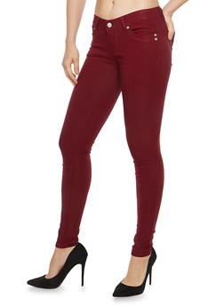 Black Cropped Skinny Jeggings - 1061069691009