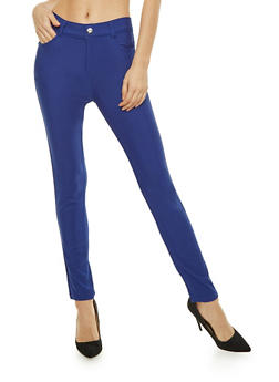 Solid Knit Jeggings - 1061072719613