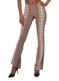 Printed Flared Pants - 1061074015787