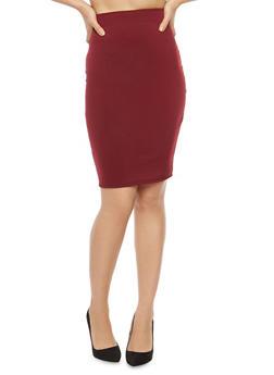 Ponte Pencil Skirt - 1062020624859