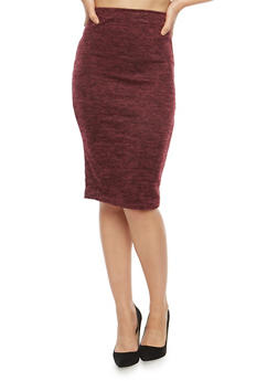 Soft Knit Pencil Skirt - 1062020625199