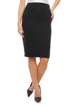 Pencil Skirt in Ribbed Knit - 1062020627764