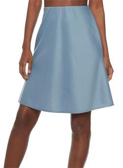 Solid Skater Skirt - 1062020629444