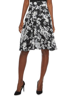 A Line Skirt in Floral Print - 1062020629744