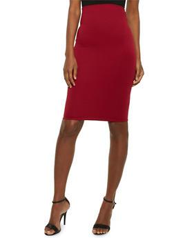Basic Midi Pencil Skirt - 1062020629985