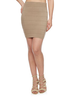 Mini Bandage Pencil Skirt - 1062058933801