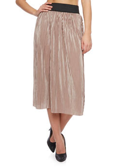 Midi Skirt with Micro Pleats - 1062062415972