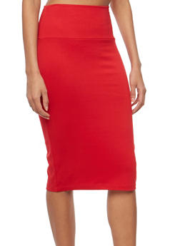 Back Slit Pencil Skirt - 1062062419495