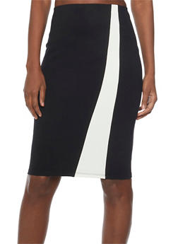 Color Block Pencil Skirt - 1062062708674