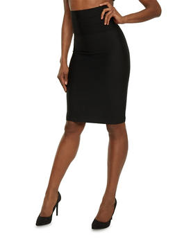 High Waisted Bandage Midi Skirt - 1062062709891