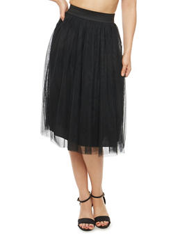 Tulle Mid Length A Line Skirt - 1062074011513
