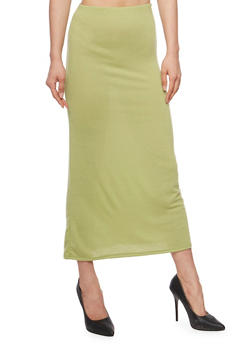 Solid Soft Knit Maxi Skirt - 1062074016262