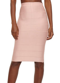 High Waisted Bandage Pencil Skirt - 1062074016795