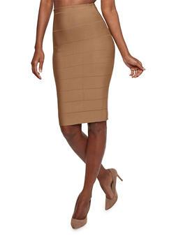 High Waisted Bandage Pencil Skirt - 1062074016795