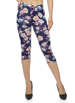 Floral Capri Leggings - 1066062906712