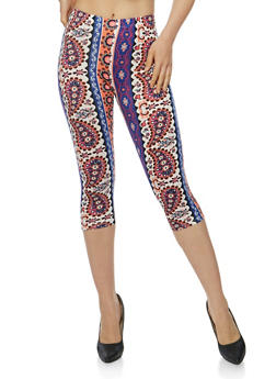 Printed Capri Leggings - 1066062907140