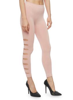 Laser Cut Leggings - 1067001441129