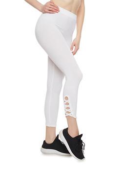 Lattice Leg Leggings - 1067001441245