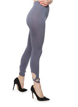 Twist Cut Out Capri Legging - 1067001441286