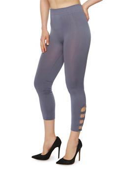 Lattice Cutout Leggings - 1067001441295