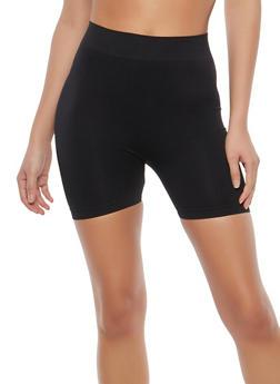 Black Stretch Bike Shorts - 1068064871002