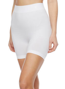 Solid Athletic Bike Shorts - WHITE - 1068064873320