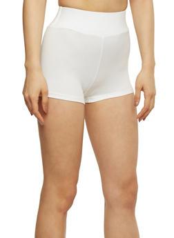Short Solid Bike Shorts - WHITE - 1068064876074