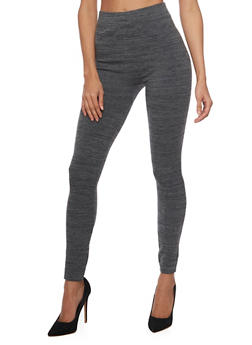 High Waisted Leggings in Marled Knit - 1069041451921
