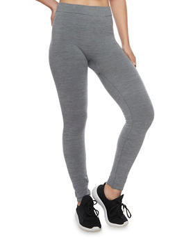 Leggings in Heathered Knit - 1069041451926