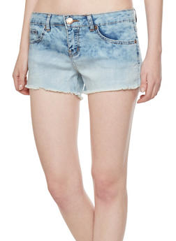 VIP Jeans Denim Shorts with Frayed Cuffs - 1070065307502