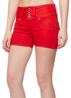 Solid 3 Button Twill Shorts - 1070067546001