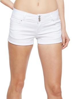 Wax 3 Button Push Up Jean Shorts - 1070071610070