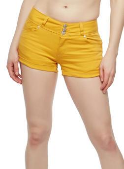 WAX 3 Button Burgundy Shorts - 1070071610097