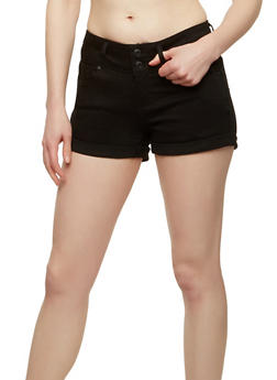 WAX 2 Button Push Up Denim Shorts - 1070071610107