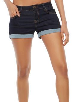 WAX Colored Push Up Denim Shorts - 1070071619126