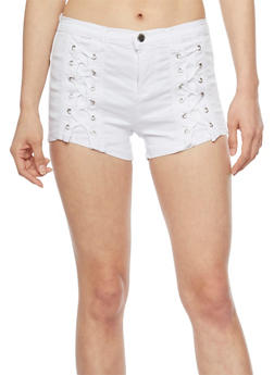 Lace Up Shorts - 1070072298585