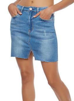 Denim Mini Skirt - 1071069397121