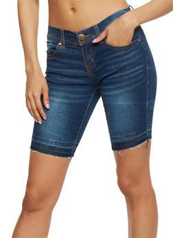 VIP Whiskered Raw Cut Bermuda Shorts - 1072065306776