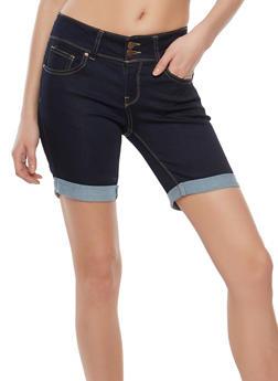 WAX 2 Button Bermuda Shorts - 1072071619062