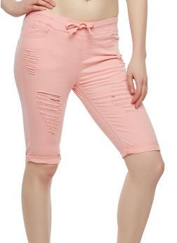 Destroyed Bermuda Shorts - 1072072290234