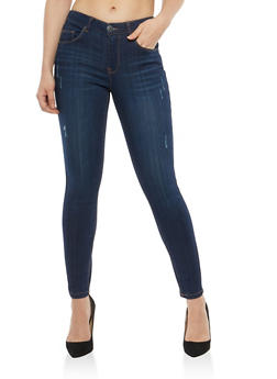 Almost Famous Frayed Skinny Jeans - 1074015991515