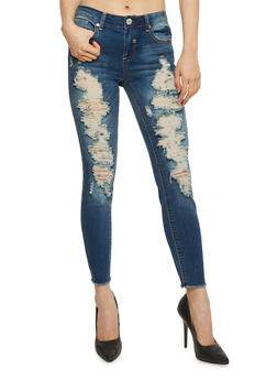 Almost Famous Destroyed Skinny Jeans - 1074015993804
