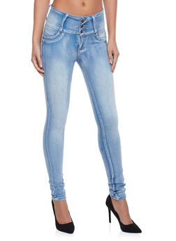 Skinny Jeans with Light Distressing - 1074041759624