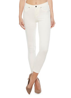 Ponte Skinny Leg Cuffed Jeggings - 1074056570150