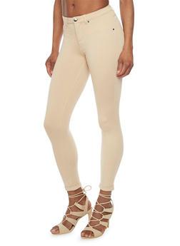 Ponte Skinny Leg Cuffed Jeggings - 1074056570150