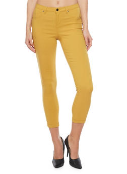Cropped Fixed Cuff Jeggings - 1074056570155