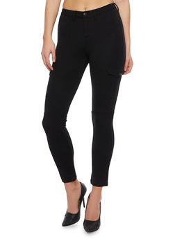 Skinny Cargo Pants in Stretch Knit - 1074056572062