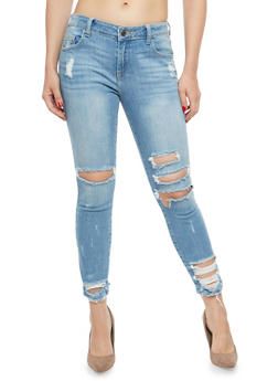 Cello Destroyed Skinny Jeans - 1074063150442