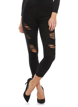 Distressed Skinny Jeans - 1074063150559