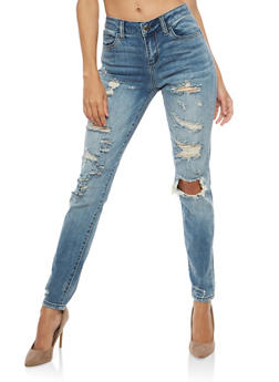 Cello Destroyed Skinny Jeans - 1074063150731